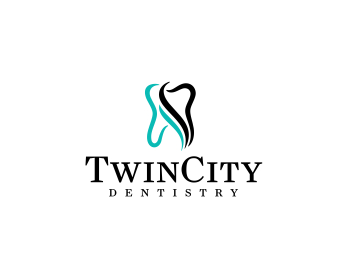 Twin City Dentistry logo design