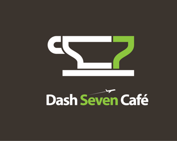 Dash 7 Café logo design
