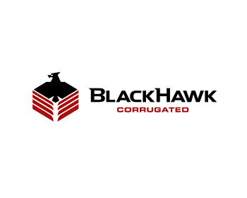 BlackHawk Corrugated logo design