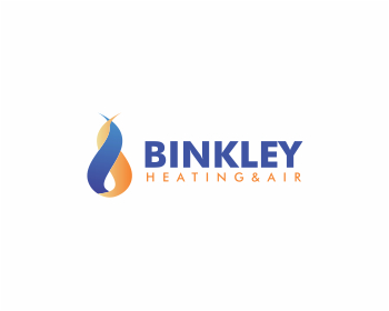 Binkley heating & air logo design