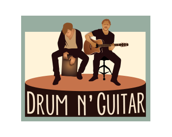 Drum 'n' Guitar logo design
