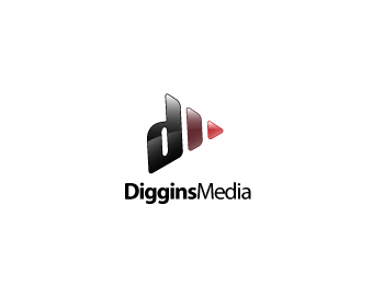 Diggins Media logo design