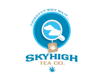 Skyhigh Tea Co logo design