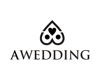 A WEDDING logo design