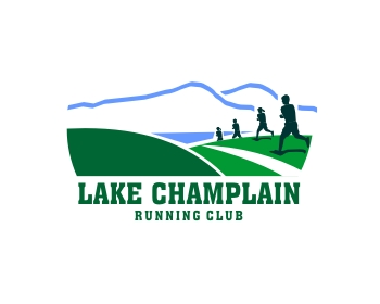 Lake Champlain Running Club logo design