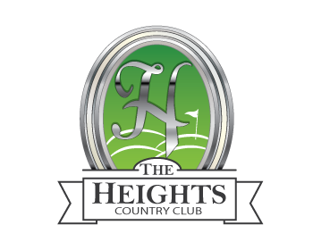 The Heights Country Club logo design