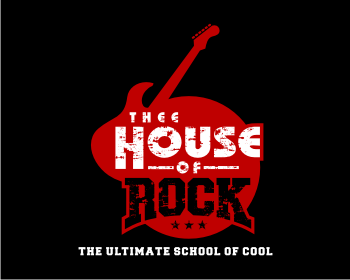 Thee House Of Rock logo design