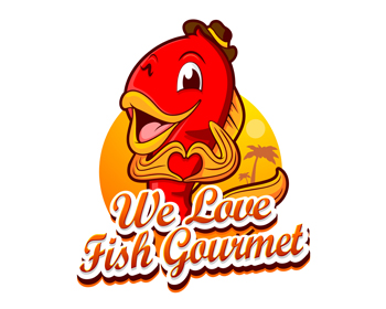 We Love Fish Gourmet logo design
