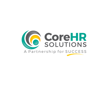CoreHR Solutions logo design