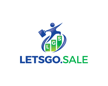 LETSGO.SALE logo design