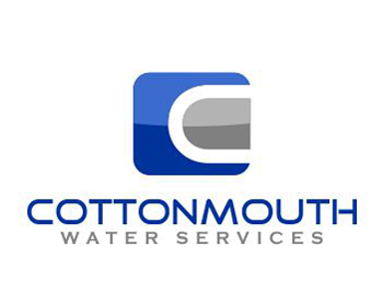 Cottonmouth Water Services logo design