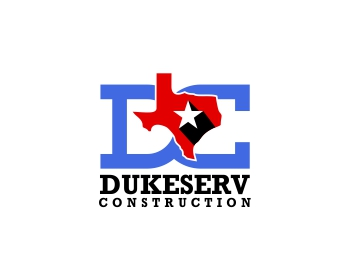 D.E. Construction logo design