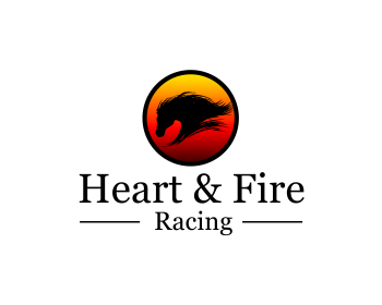 Heart & Fire Racing logo design