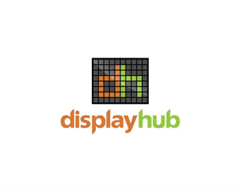 DisplayHub logo design