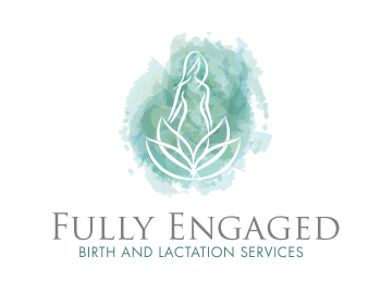 Fully Engaged Birth and Lactation Services logo design