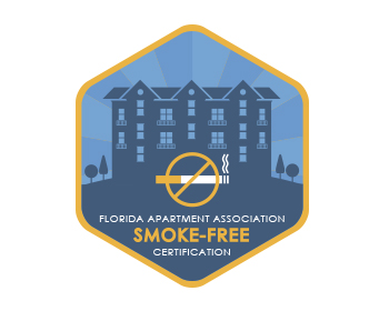 Florida Apartment Association Smoke-Free Certification logo design