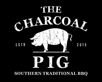 Restaurant logo design for The Charcoal Pig