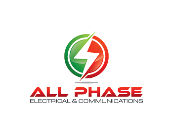 All Phase Electrical & Communications logo design