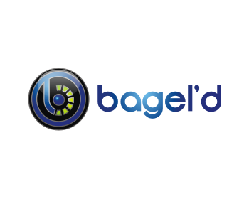 Restaurant logo design for Bagel'd