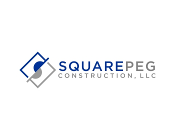 Square Peg Construction, LLC logo design