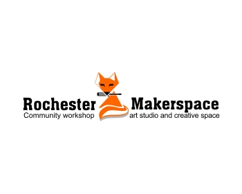 Logo design for Rochester MakerSpace (www.RochesterMakerSpace.org)