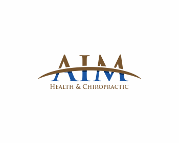 AIM Health & Chiropractic logo design