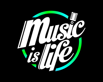 Music is Life logo design