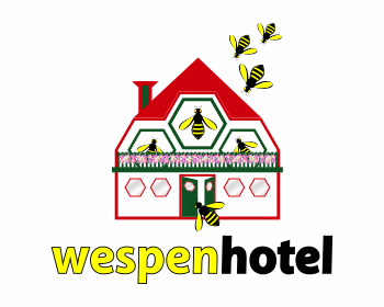 Wespenhotel logo design