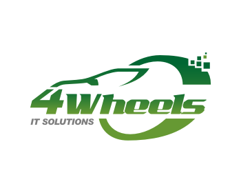 4Wheels IT Solutions logo design