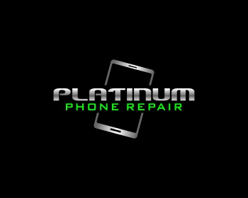 Platinum Phone Repair logo design
