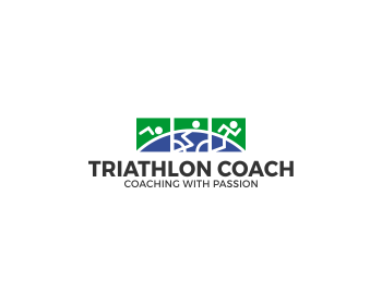 Triathlon Coach logo design
