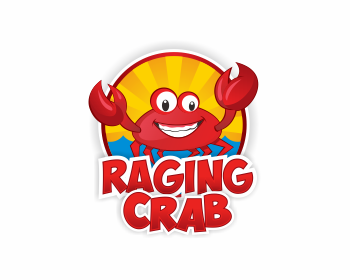 Raging Crab logo design