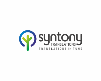 Syntony Translations logo design