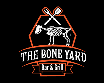 Logo design for The Boneyard Bar & Grill