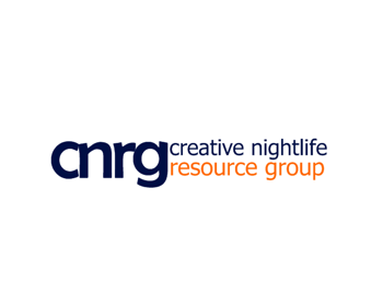 creative nightlife resource group logo design