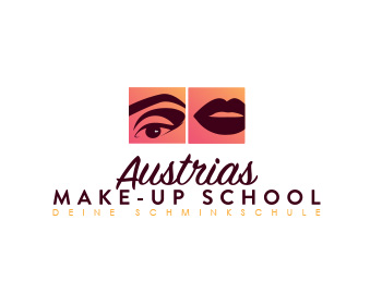 Austrias Make-up School logo design