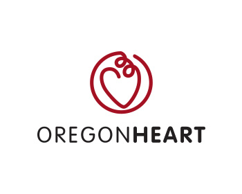 OregonHeart logo design