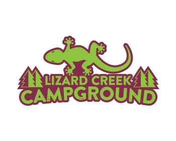 Lizard Creek Campground logo design