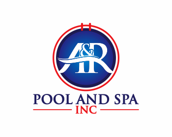 A&R Pool and Spa, Inc. logo design