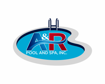 A r pool and spa inc logo wettbewerb logos by anung design for Pool design logo