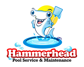 Hammerhead Pool Service & Maintenance logo design