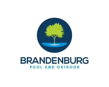 Brandenburg Pool and Outdoor logo design
