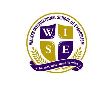 Walker International School of Evangelism (WISE) logo design