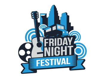 Friday Night Festival logo design