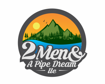 2 MEN & A PIPE DREAM LLC logo design