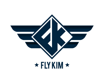 Fly Kim logo design