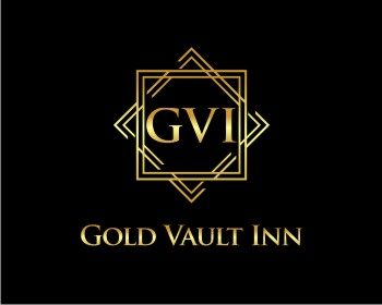 Gold Vault Inn logo design