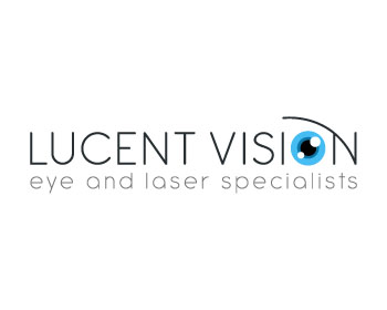 Lucent Vision (main name) Eye and Laser Specialist (below) logo design