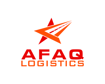 Afaq logistics logo design