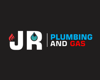 Jr plumbing and gas logo design